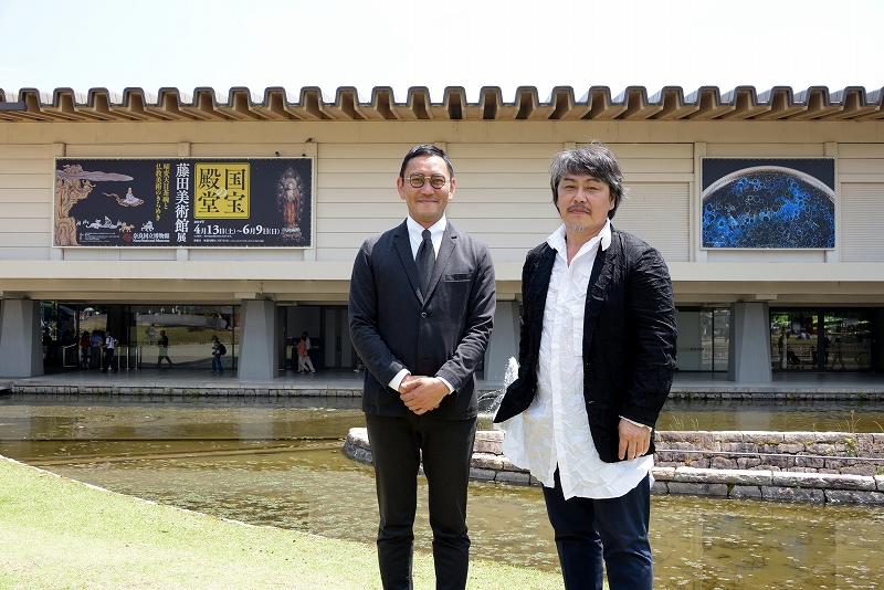 2019年4月13日〜6月9日に「特別展 国宝の殿堂 藤田美術館展 曜変天目茶碗と仏教美術のきらめき」が開催された奈良国立博物館前にて。