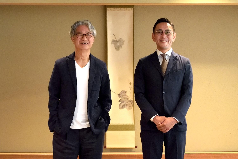 八木 保さん(左)と藤田清館長(右)。大阪市内にて対談。